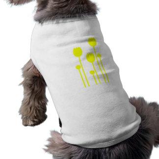 Perro sleeveless tulpe hablas blume abstracto geni camisas de mascota
