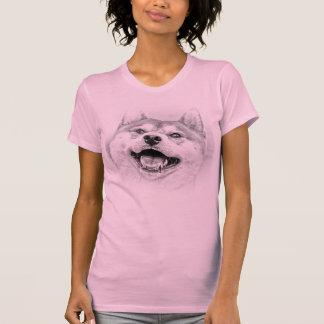 Perro sonriente de Shiba Inu Camisetas