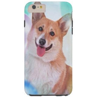 Perro sonriente del Corgi Galés del Pembroke Funda De iPhone 6 Plus Tough