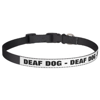 Perro sordo collar de perro