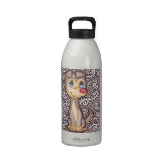 Perro sospechado rojo botellas de agua reutilizables