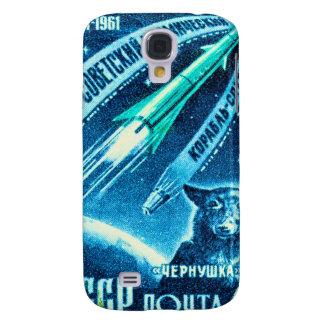 Perro soviético del espacio funda para galaxy s4