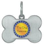 Perro superior de Blue Ribbon personalizado Placa De Mascota
