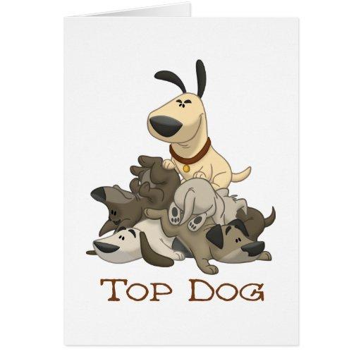 Perro superior tarjetón