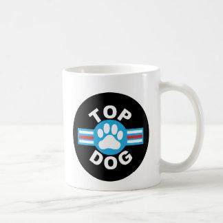 perro superior taza básica blanca
