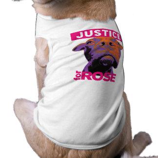 Perro T de Rose de la justicia 4 Playera Sin Mangas Para Perro