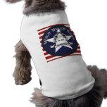 Perro T del logotipo del patriota de los armas de  Camisetas Mascota