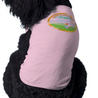 Perro T del unicornio del arco iris Camiseta De Perrito