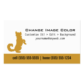 Perro - tarjeta de visita personal