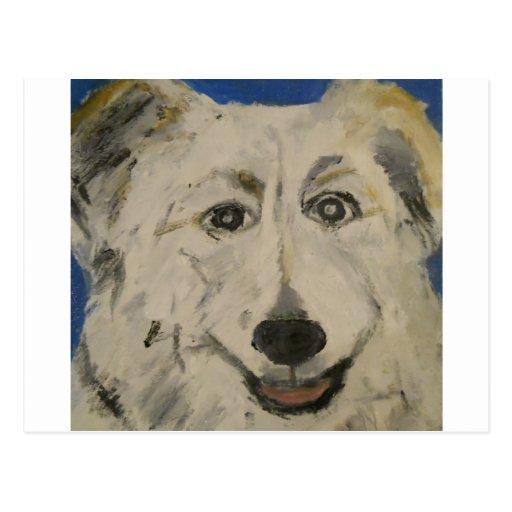 perro, tarjeta, feliz, ginsburg de eric, postal