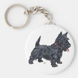 Perro valiente del escocés llaveros personalizados