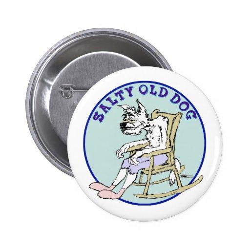 Perro viejo salado pin