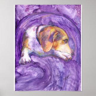 Perro vivaracho:  El perrito pensativo Impresiones