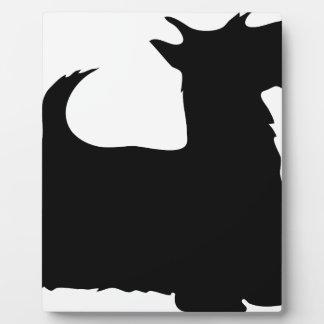 Perro y correo de Scotty Placas Para Mostrar
