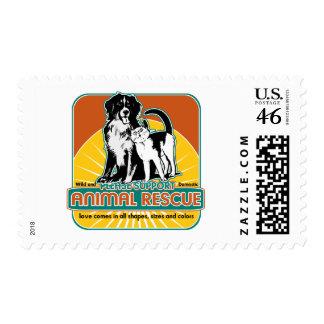 Perro y gato animales del rescate franqueo