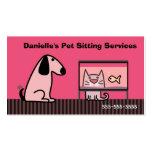 Perro y gato del canguro del mascota plantillas de tarjeta de negocio