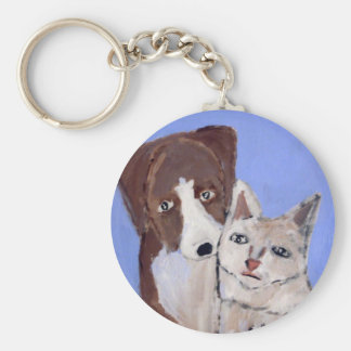 perro y gato por el ginsburg de eric llaveros personalizados