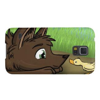 """""""Perro y pato """" Fundas Para Galaxy S5"""