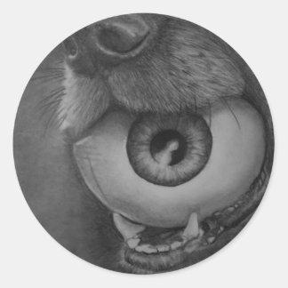Perro y pegatina de la bola del ojo