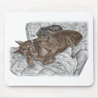 Perro y perrito del Doberman Mouse Pad