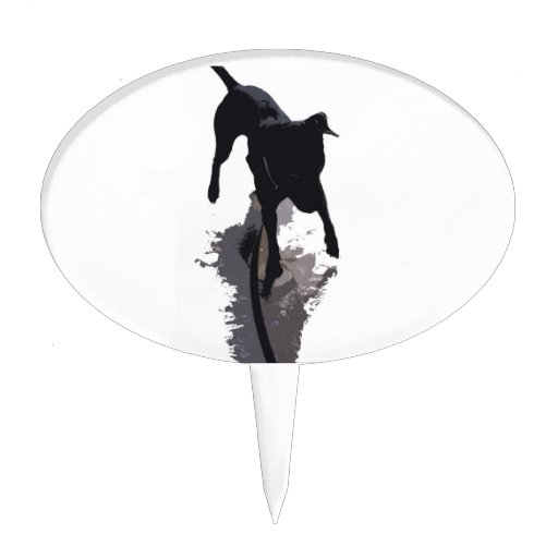 perro y sombra posterized figura para tarta