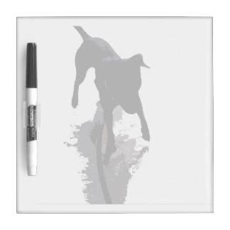perro y sombra posterized pizarras blancas de calidad