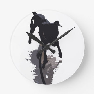 perro y sombra posterized reloj