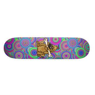 Perro y su hueso skate board