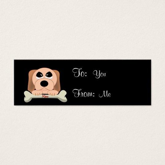 Perro y un hueso tarjeta de visita pequeña
