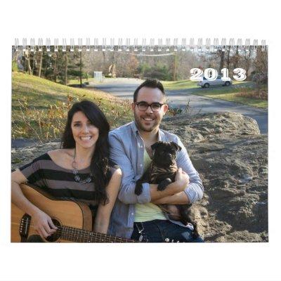 Perros 2013 de la familia calendario