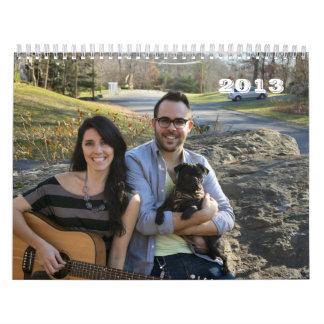 Perros 2013 de la familia calendario de pared