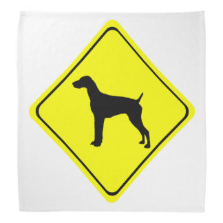 Perros alemanes del amor de la señal de peligro bandana