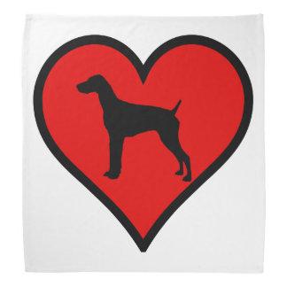 Perros alemanes del amor del corazón del indicador bandanas