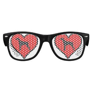 Perros alemanes del amor del corazón del indicador lentes de sol