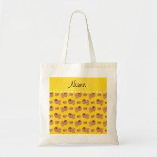 Perros amarillos conocidos personalizados de bolsa tela barata