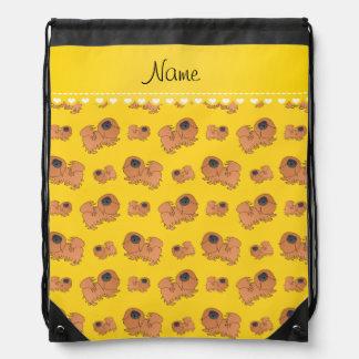 Perros amarillos conocidos personalizados de mochilas
