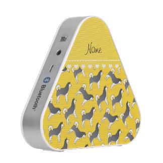 Perros amarillos conocidos personalizados del altavoz bluetooth