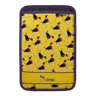 Perros amarillos conocidos personalizados del funda macbook air