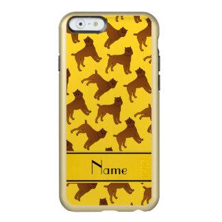 Perros amarillos conocidos personalizados del funda para iPhone 6 plus incipio feather shine