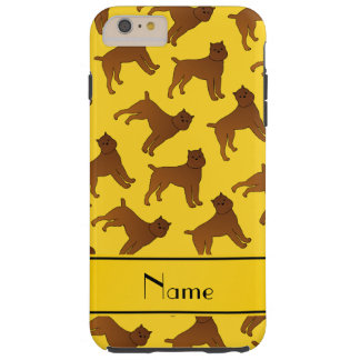Perros amarillos conocidos personalizados del funda para iPhone 6 plus tough