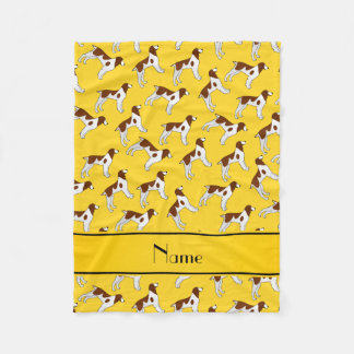 Perros amarillos conocidos personalizados del manta polar