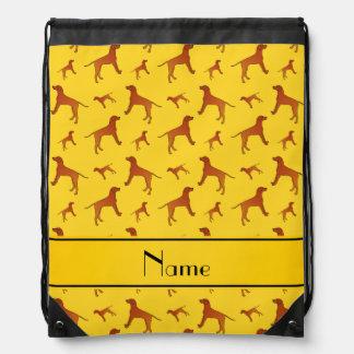 Perros amarillos conocidos personalizados del mochila