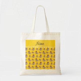 Perros amarillos conocidos personalizados del tzu bolsa tela barata