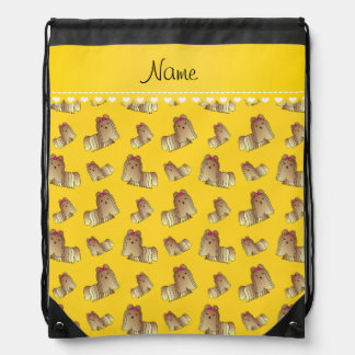 Perros amarillos conocidos personalizados del tzu mochila
