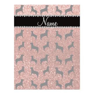 """Perros anaranjados claros conocidos personalizados folleto 8.5"""" x 11"""""""