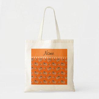 Perros anaranjados conocidos personalizados de bolsa tela barata
