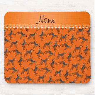 Perros anaranjados conocidos personalizados de los mouse pad