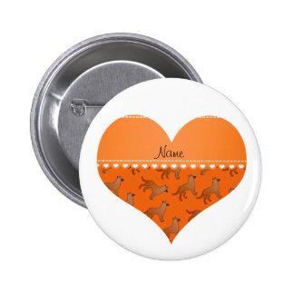 Perros anaranjados conocidos personalizados de los pin redondo 5 cm
