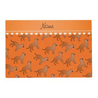 Perros anaranjados conocidos personalizados de los tapete individual
