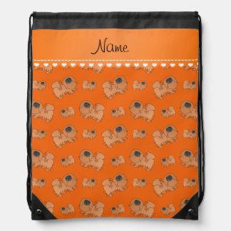 Perros anaranjados conocidos personalizados de mochilas